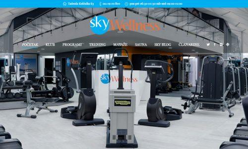 izrada sajta fitness centar teretana Sky wellness